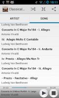Screenshot of Classical Music Radio