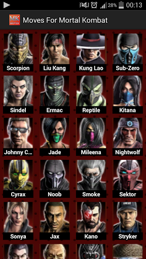 Moves for Mortal Kombat