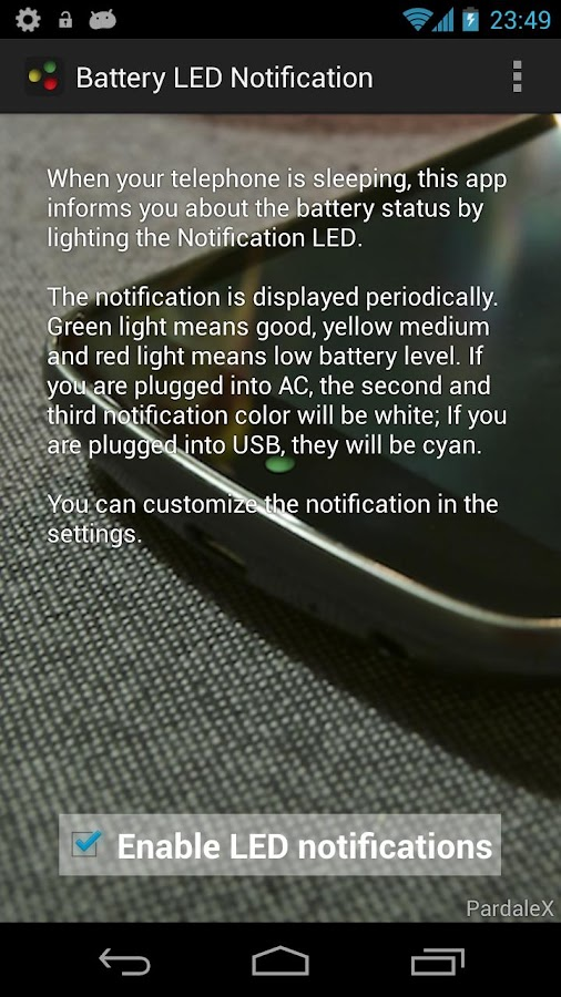 Battery LED Notification - screenshot