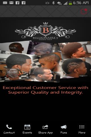 Billionaire's Barbershop App