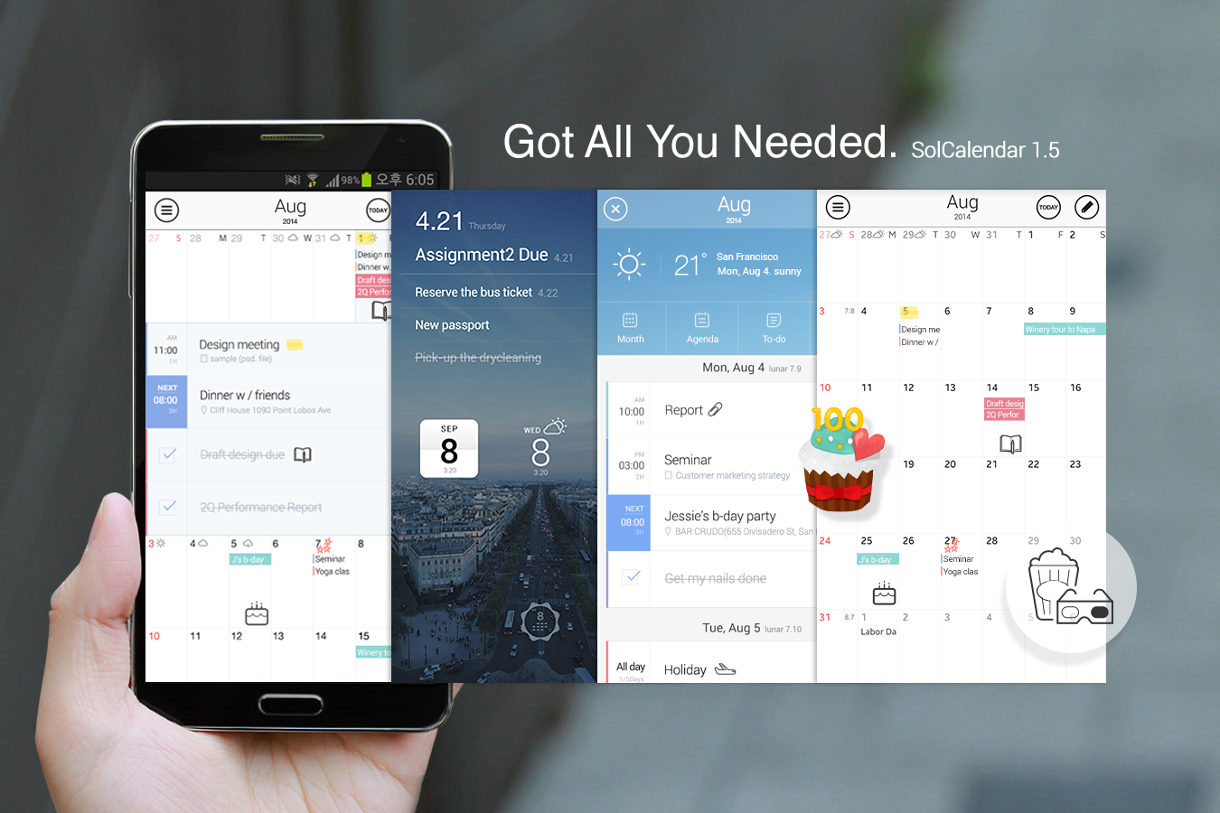 SolCalendar - Calendar / To do (Android) reviews at Android