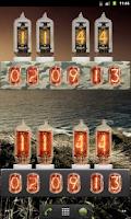 Screenshot of Nixie Tube Clock Widget