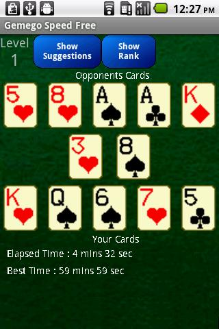Speed Solitaire Free - screenshot