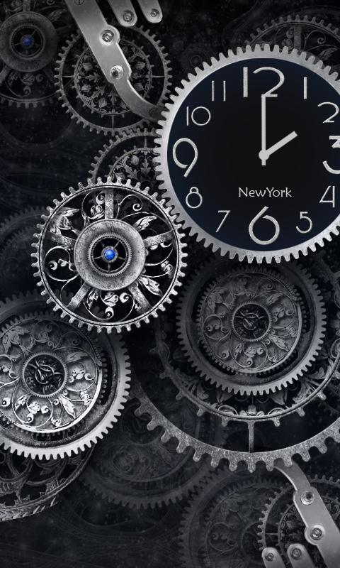 Black Clock Live Wallpaper - screenshot
