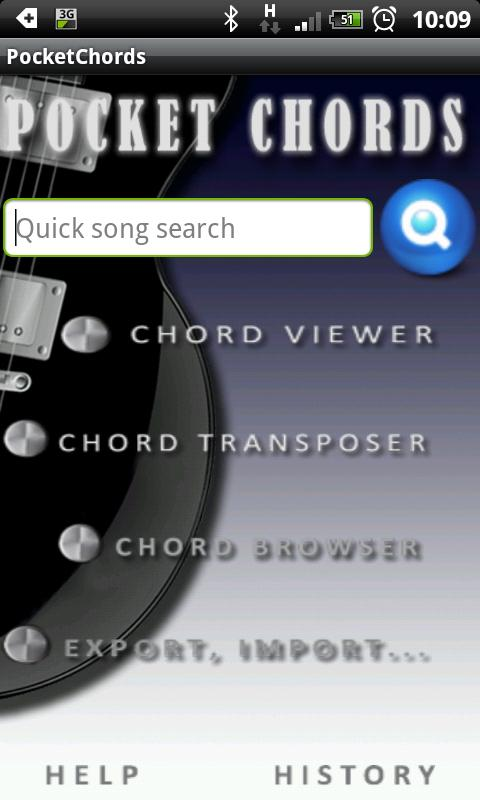 Pocket guitar chords & tabs - screenshot