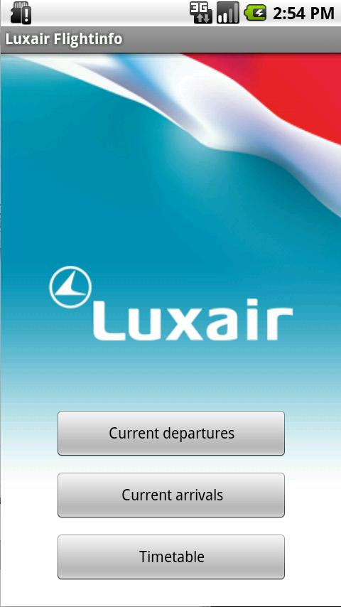 Luxair pour Android - screenshot