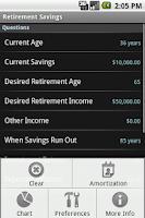 Screenshot of Retirement Calculator