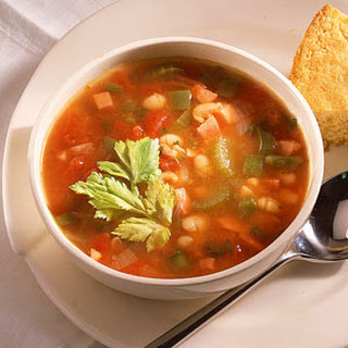Spicy Ham-and-Bean Soup