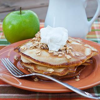 Cinnamon Apple Pancakes with Apple Cider Syrup