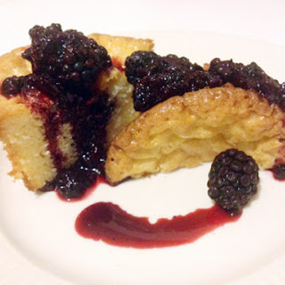 White Chocolate Cakelets with Blackberry Cabernet Gastrique
