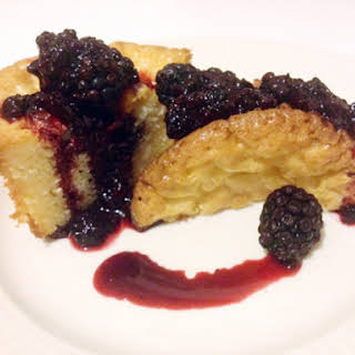 White Chocolate Cakelets with Blackberry Cabernet Gastrique.