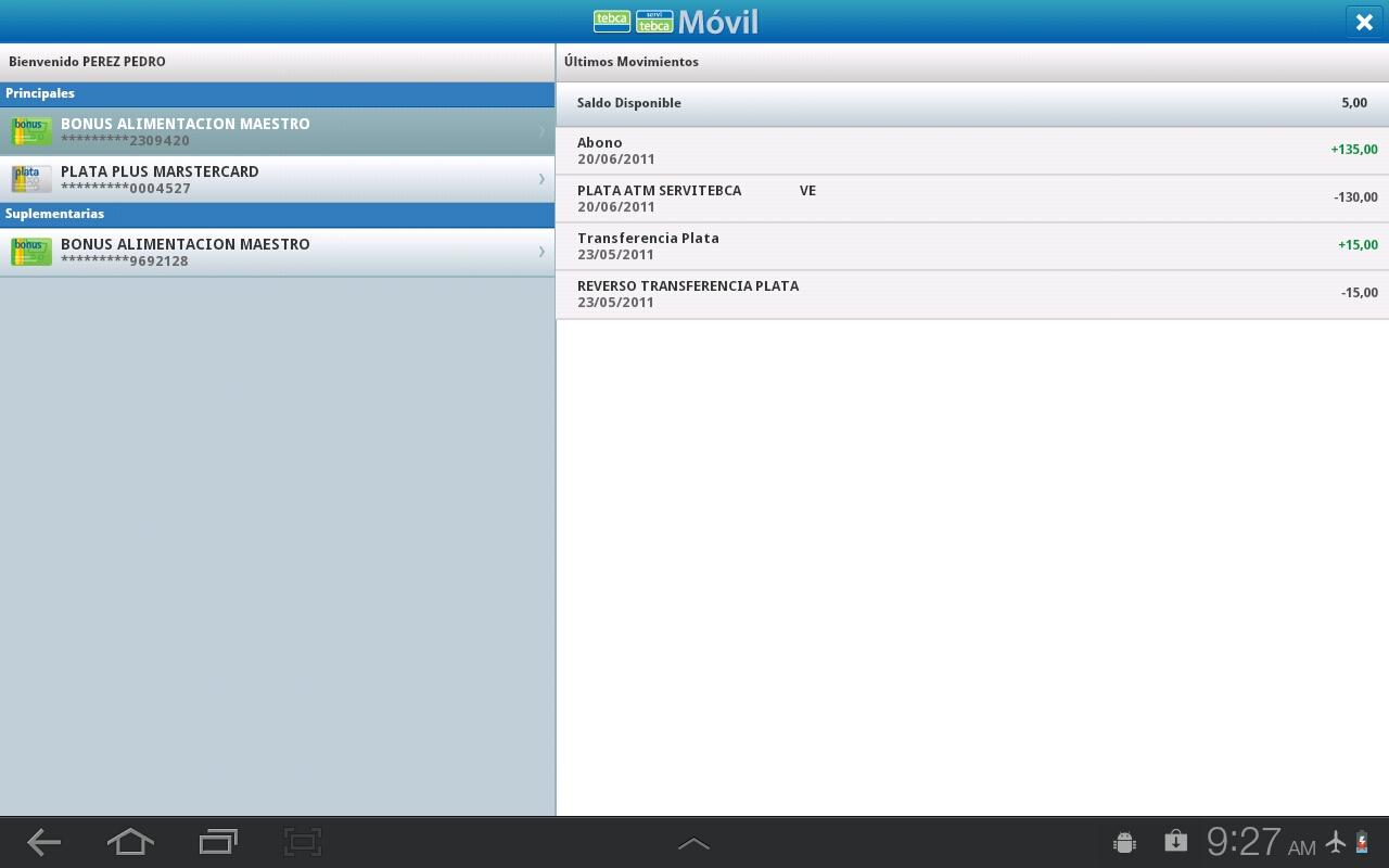 Acceso Móvil Tablets- screenshot