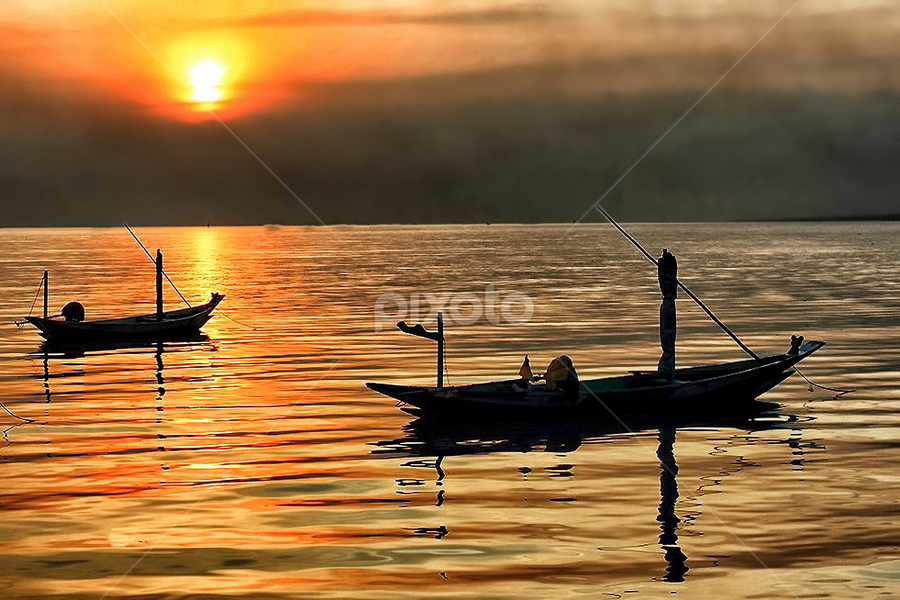Sunrise at Kenjeran beach by Nyoto Nugroho Poospo - Landscapes Sunsets & Sunrises
