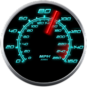 Glowing GPS Speedometer