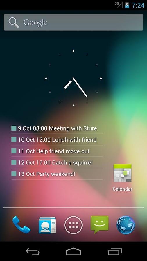 Transparent Calendar Widget - screenshot