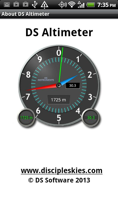 DS Altimeter- screenshot