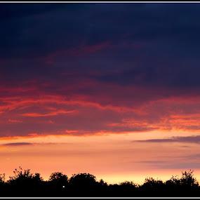 Sunset after tunder by Aleksandar Filipović - Landscapes Sunsets & Sunrises ( tunder, nature, sunset, sun )