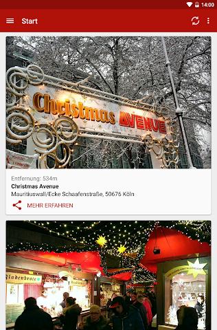 Screenshot 1 Kölner Weihnachtsmärkte