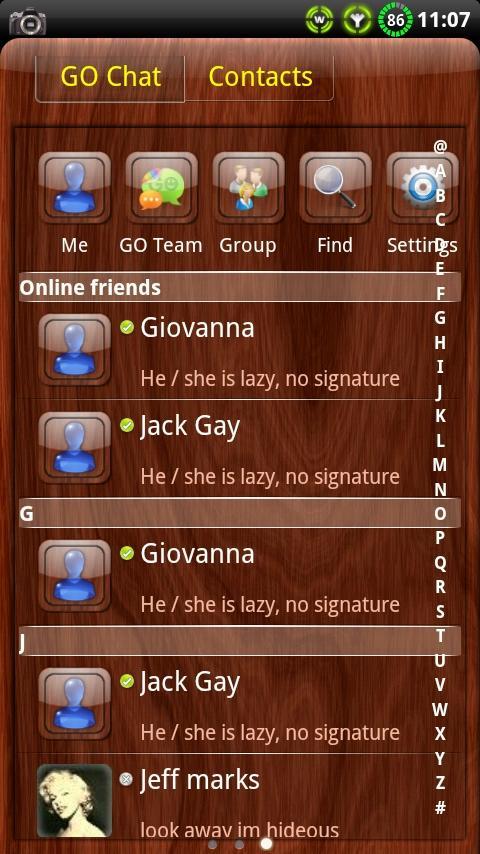 Mahogany Wood GO SMS Theme- screenshot