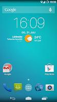 Screenshot of Flat Transparency Theme