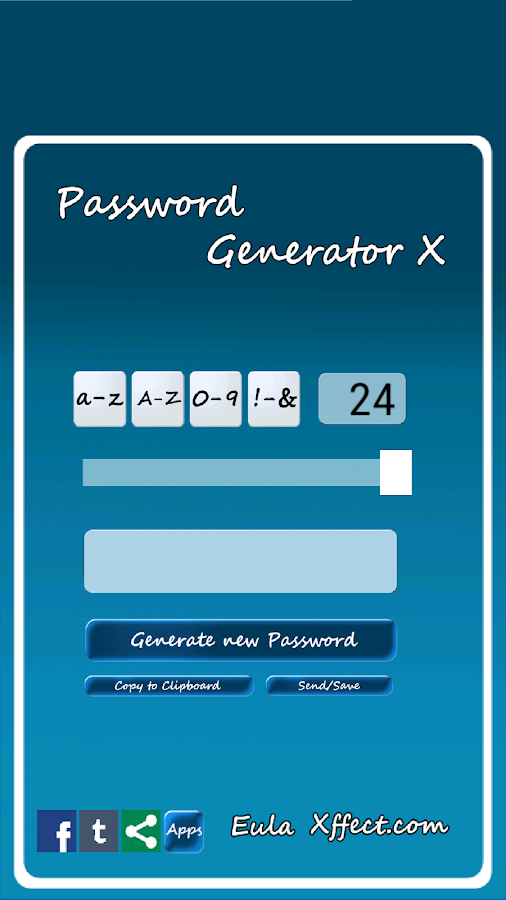 Password Generator X- screenshot
