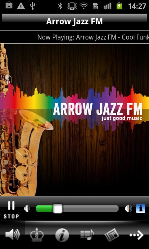 Arrow Jazz FM - screenshot