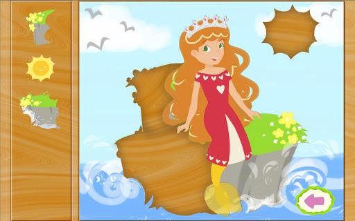 童话游戏:美人鱼公主拼图 - 教育 版