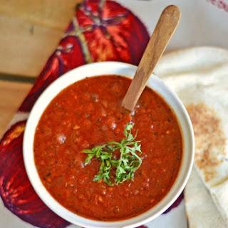 Chunky Homemade Tomato Soup