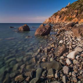 Even Flow by Gabriele Copez - Landscapes Waterscapes ( canon, sky, sardinia, cliff, sea, long exposure, italy, rocks, 5d )
