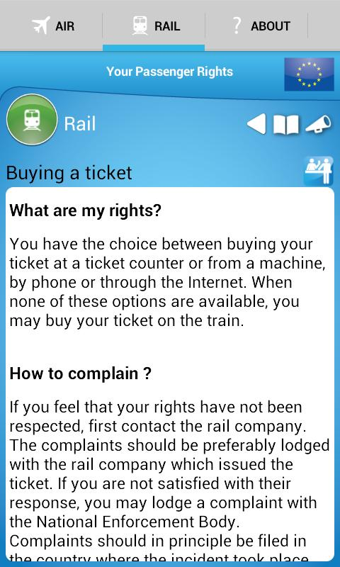 Your Passenger Rights- screenshot