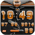 dragon digital clock orange icon