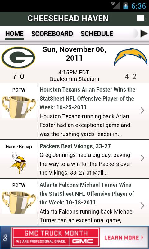 NFL by StatSheet - screenshot