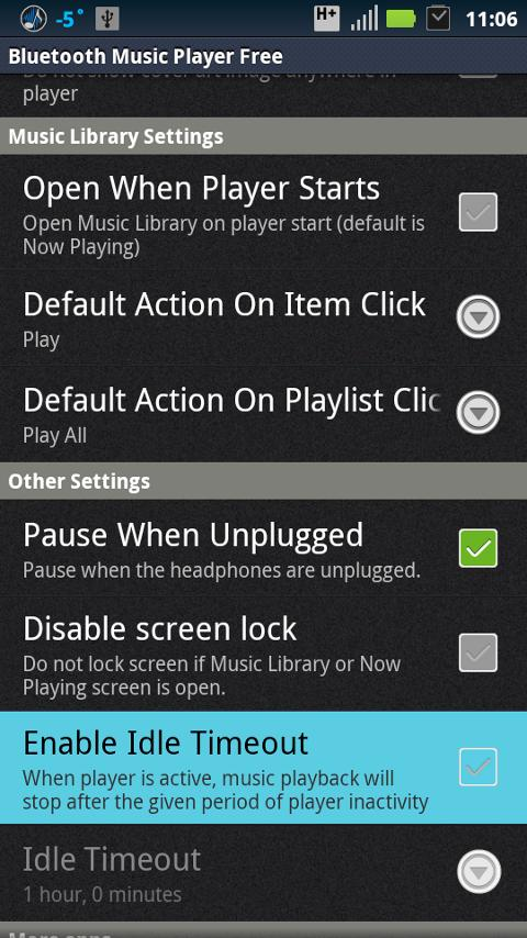 Bluetooth Music Player - screenshot