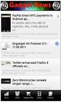Screenshot of Gadget News.
