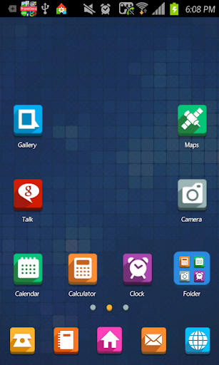Shadow go launcher theme
