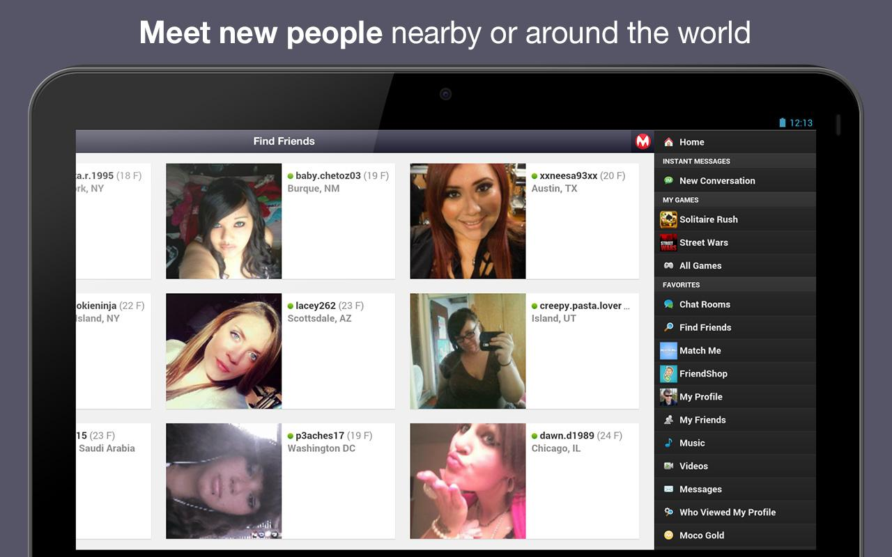 Moco - Chat, Meet People - screenshot