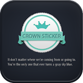 Crown Sticker go locker theme