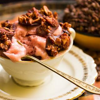 Blood Orange Ice Cream With Almond Clusters (vegan)