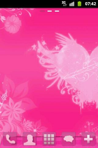 GO桌面主題粉紅色的心 GO Launcher Theme