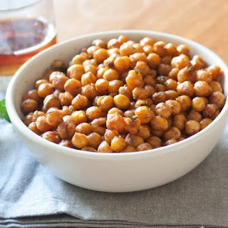 Roasted Curried Chickpeas with Rosemary and Thyme.