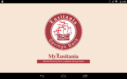 Lusitania Savings Bank Tablet- screenshot thumbnail