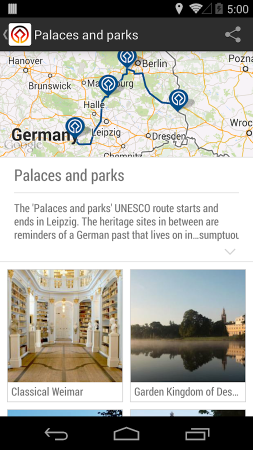 UNESCO Germany - travel guide- screenshot