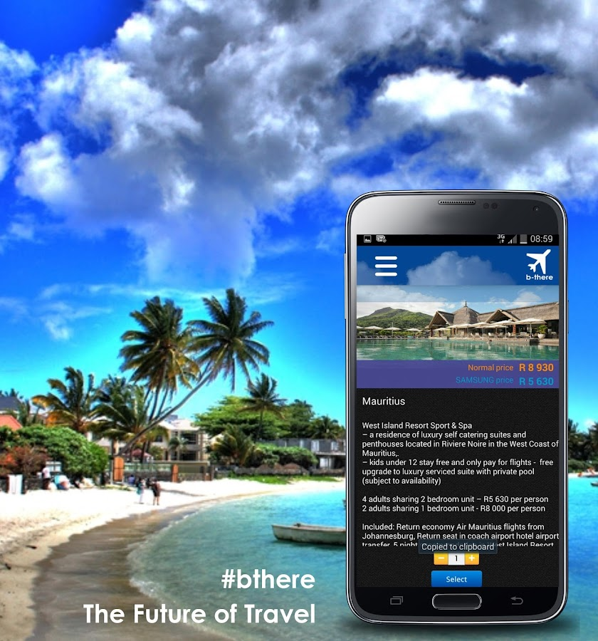 b-there Travel App Note 3 LTE - screenshot