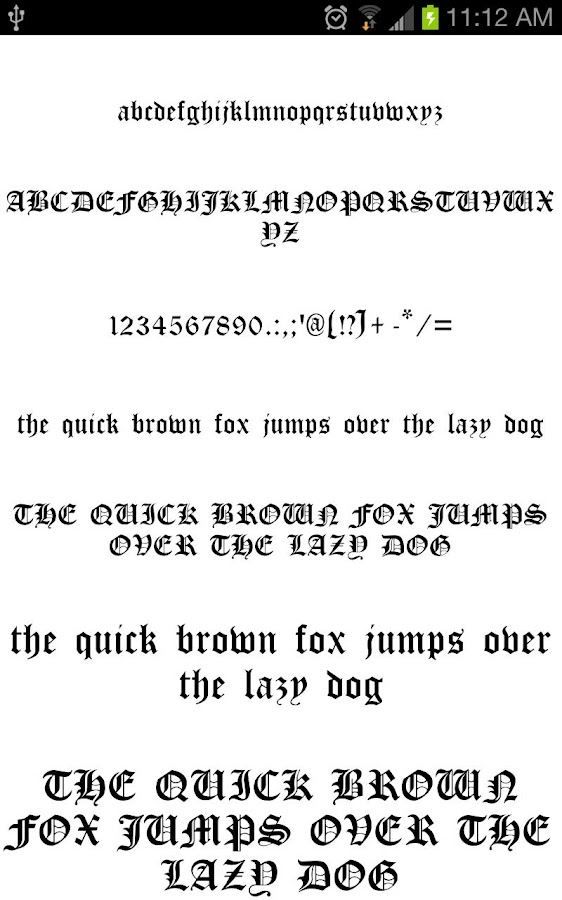 Oldeng fonts for flipfont free android apps on google play for Fonts for google docs android
