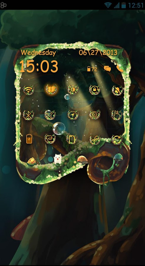 Elven Forest Toucher Pro Theme- screenshot