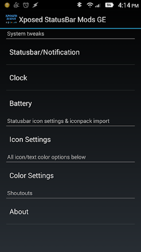 Xposed StatusBar Mods - GPE