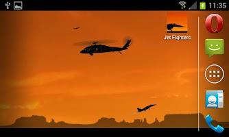 Screenshot of Jet Fighters -Live- Wallpaper