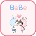 BeBe Couple2 GO sms theme icon