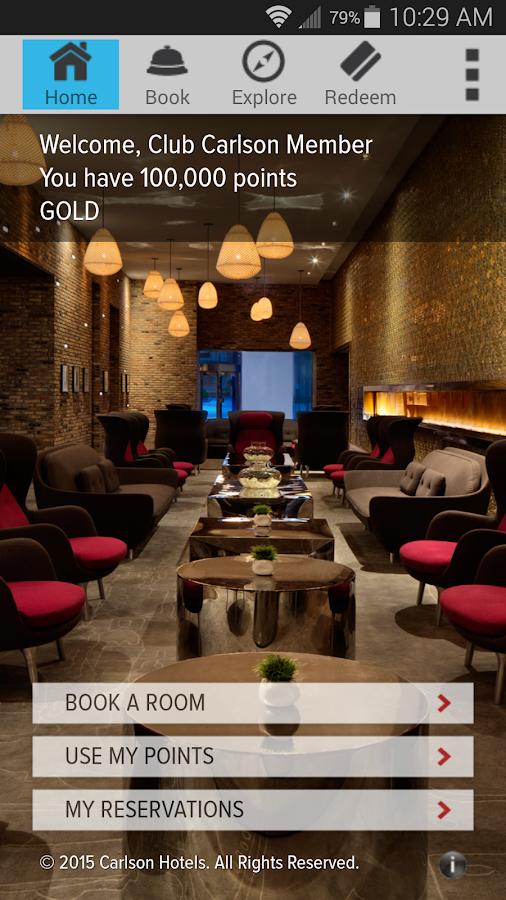 Club Carlson — Hotel Rewards - screenshot