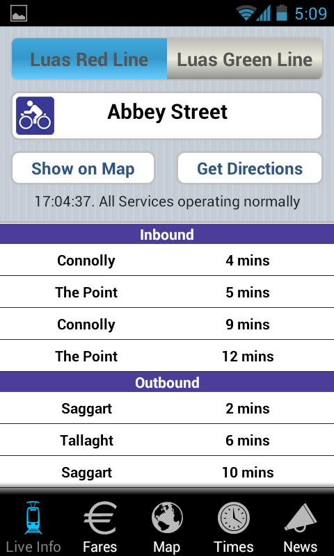 LUAS - screenshot